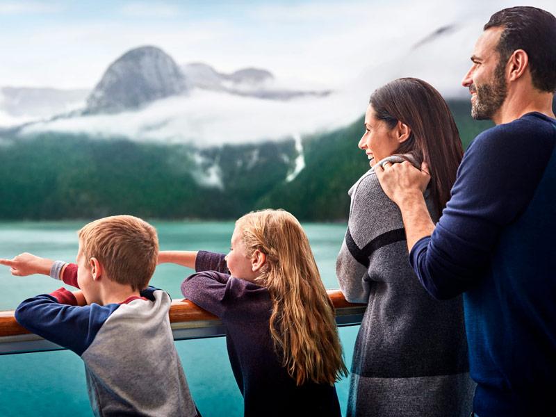 Crucero Princess en Alaska en Familia
