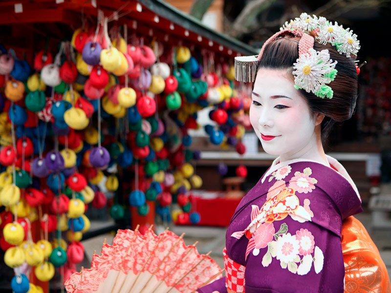 Geishas en Kioto, Japón
