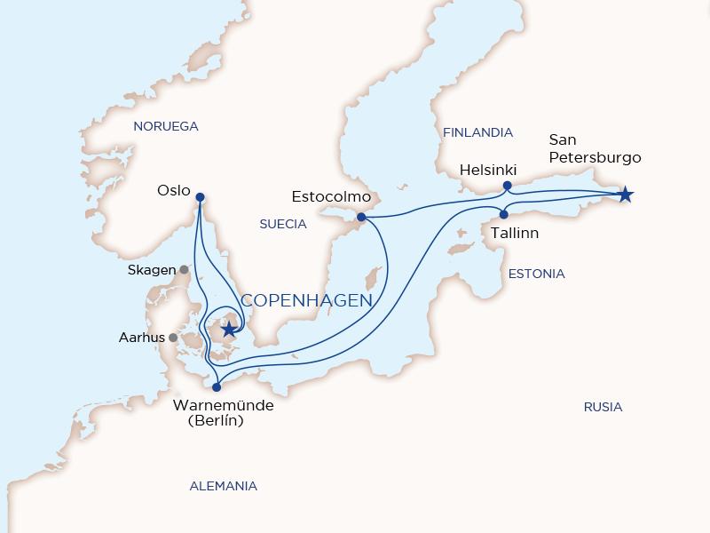 Ruta Baltico y Rusia desde Copenhague