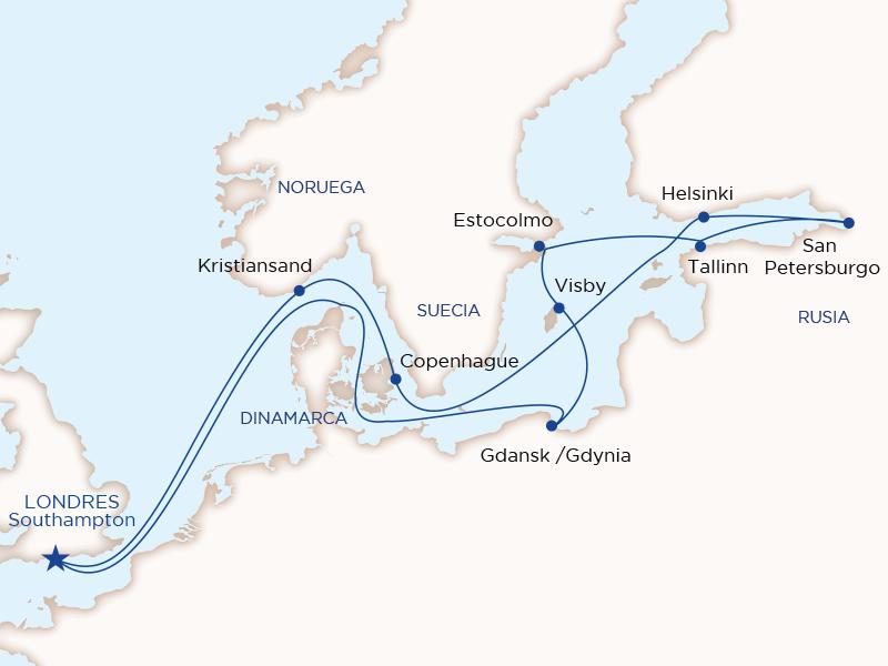 Ruta Baltico y Rusia desde Londres