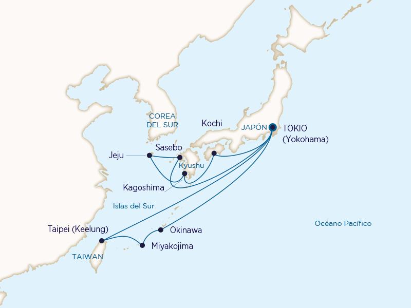 Princess: Islas del Sur y Kyushu