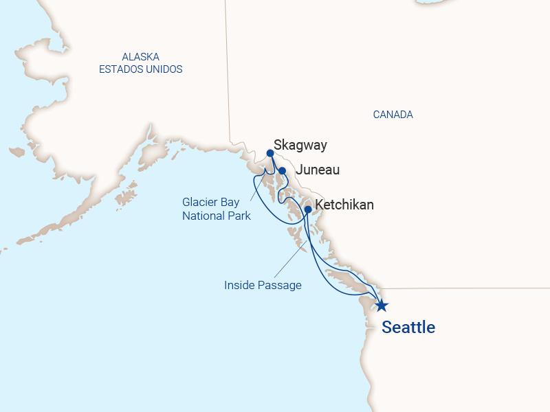 Itinerario Princess Alaska desde Seattle