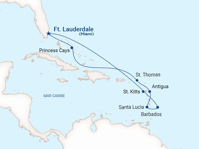 Princess - Crucero caribe completo caribe este