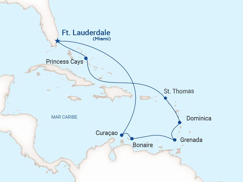 Princess - Crucero caribe Sur