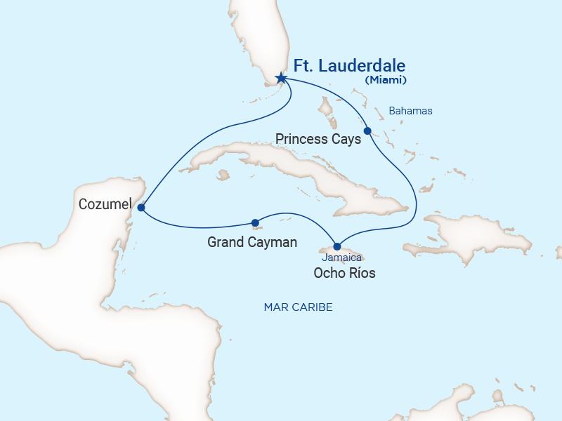 Princess - Crucero caribe oeste con Bahamas