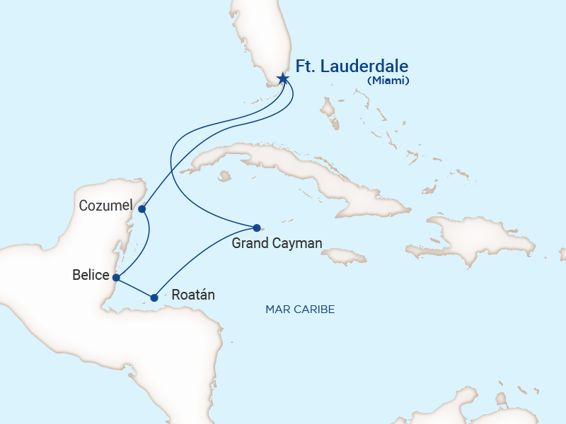 Princess - Crucero caribe oeste con Roatán