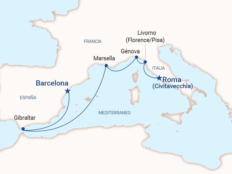 Mediterráneo - Barcelona a Roma 2022