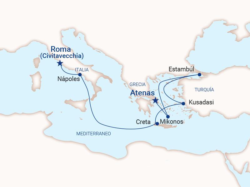 Mediterráneo - Roma a Atenas 2022