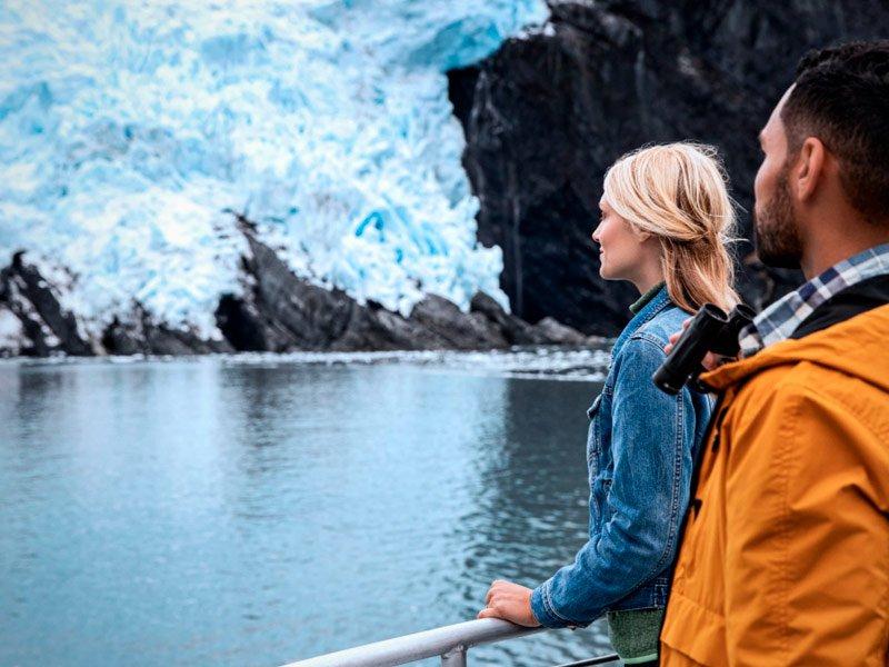 Crucero por los glaciares en Alaska